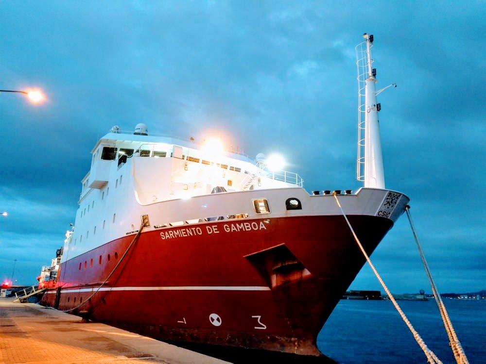 El vaixell Sarmiento de gamboa a Palamós